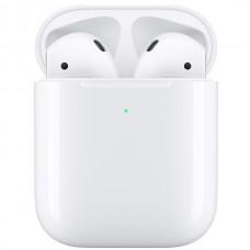 Наушники для Apple AirPods в футляре с возможностью беспроводной зарядки