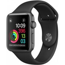 Часы Apple Watch Sport 38mm series 2, чёрный спортивный ремешок