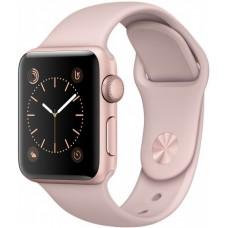 Часы Apple Watch Sport 38mm series 1, розовый спортивный ремешок