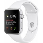 Часы Apple Watch Sport 38mm series 1, белый спортивный ремешок