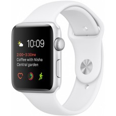 Часы Apple Watch Sport 38mm series 2, белый спортивный ремешок