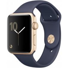 Часы Apple Watch Sport 38mm series 2, ремешок темно-синего цвета