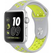 Часы Apple Watch Nike+ 38mm, ремешок Nike цвета листовое серебро/салатовый