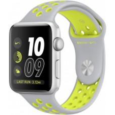 Часы Apple Watch Nike+ 42mm, ремешок Nike цвета листовое серебро/салатовый
