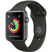 Часы Apple Watch Sport 42mm series 3, спортивный ремешок серого цвета