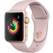 """Часы Apple Watch Sport 38mm series 3, спортивный ремешок цвета """"розовый песок"""""""