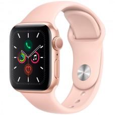 """Часы Apple Watch Sport 44mm series 5, спортивный ремешок цвета """"розовый песок"""""""