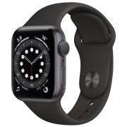 Часы Apple Watch Sport 40mm series 6, спортивный ремешок черного цвета
