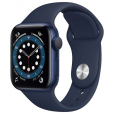 Часы Apple Watch Sport 44mm series 6, спортивный ремешок синего цвета