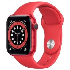 Часы Apple Watch Sport 40mm series 6, спортивный ремешок красного цвета