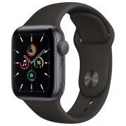Часы Apple Watch SE 40mm, спортивный ремешок черного цвета