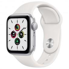 Часы Apple Watch SE 40mm, спортивный ремешок белого цвета