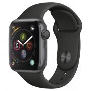 Часы Apple Watch Sport 40mm series 4, спортивный ремешок черного цвета