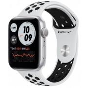 Часы Apple Watch Nike Series 6 44mm корпус из алюминия серебряный + ремешок платиновый