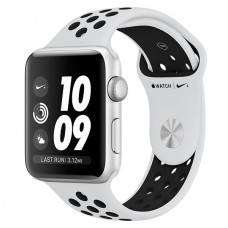Часы Apple Watch Nike+ 42mm, Series 3, Silver Aluminum Case with Pure Pl/Bl Nike Sport Band