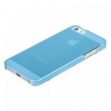 Накладка XiNBO пластиковая для iPhone 5S/5 (голубая)