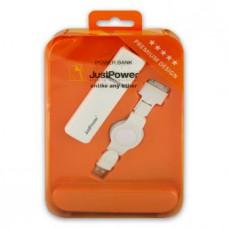 Доп. зарядное устройство JustPower для iPhone / iPad / Samsung (2200mAh)