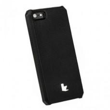 Накладка кожаная Jisoncase для iPhone 5S/5 (черный)