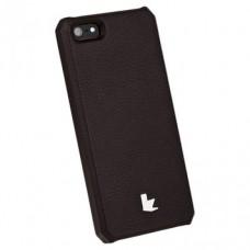 Накладка кожаная Jisoncase для iPhone 5S/5 (коричневый)