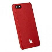 Накладка кожаная Jisoncase для iPhone 5S/5 (красный)