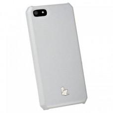 Накладка кожаная Jisoncase для iPhone 5S/5 (белый)