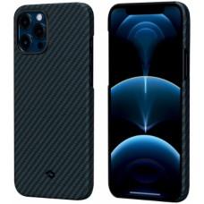 """Чехол Pitaka MagCase для iPhone 12 / 12  Pro 6,7"""" (сине-черный)"""